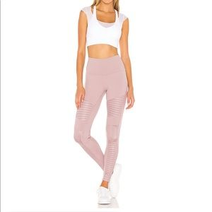 NWT ALO Yoga High-Waist Moto Legging Lavender - M